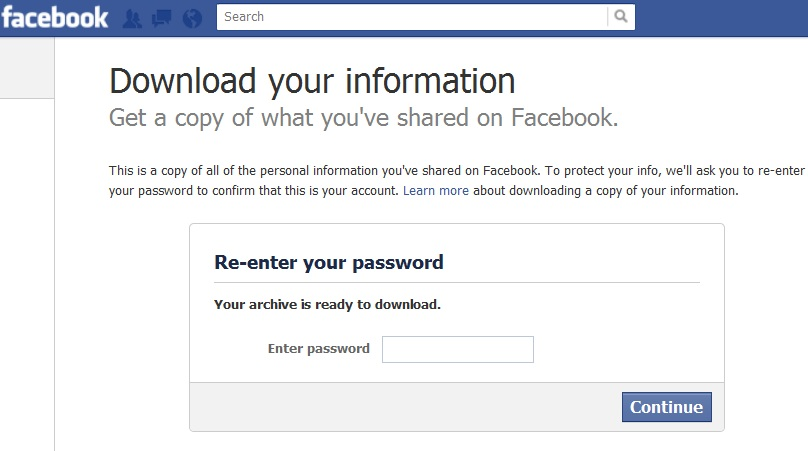 How To Download Your Facebook Data | Download Your Complete Facebook Content/Account-techinfoBiT