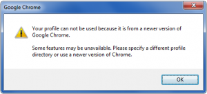 chrome error