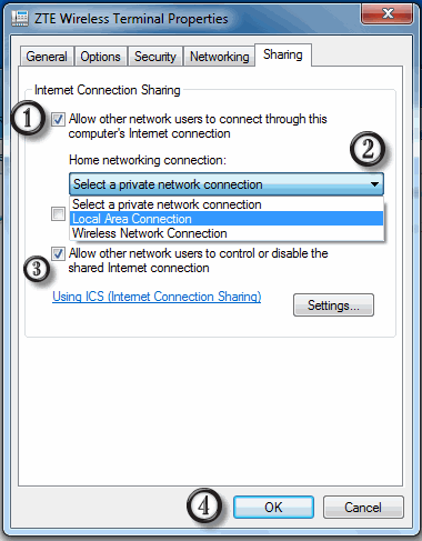How to Share Wireless Internet Connection on LAN Using Ethernet Crossover Cable
