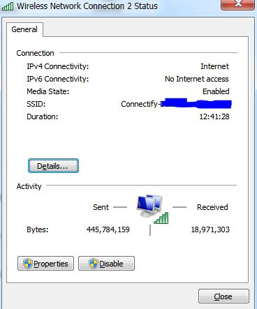 Device is Connected Through Connectify But Showing No Internet Access - techinfoBiT
