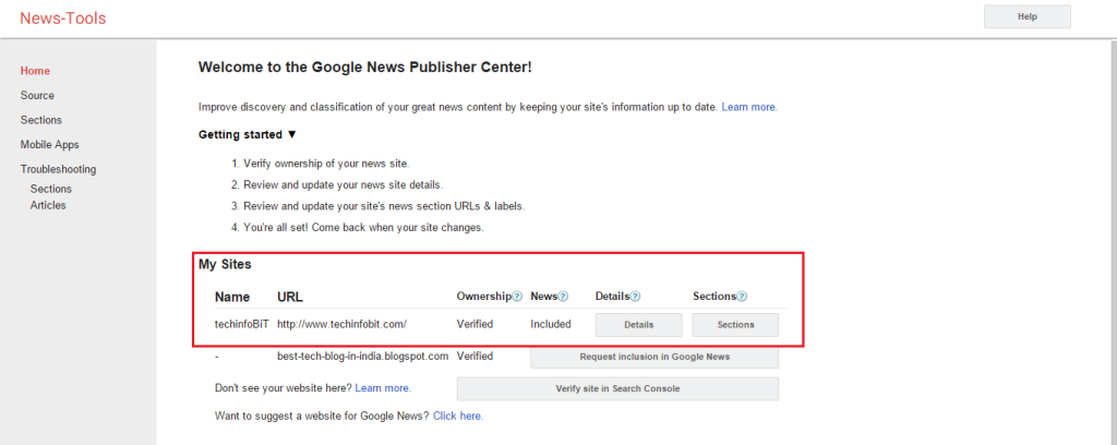 How to Submit Your Blog to Google News - techinfoBiT