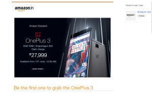 Amazon Revealed All Secrets Just Before OnePlus 3 Launch Event Price of OnePlus 3 In India