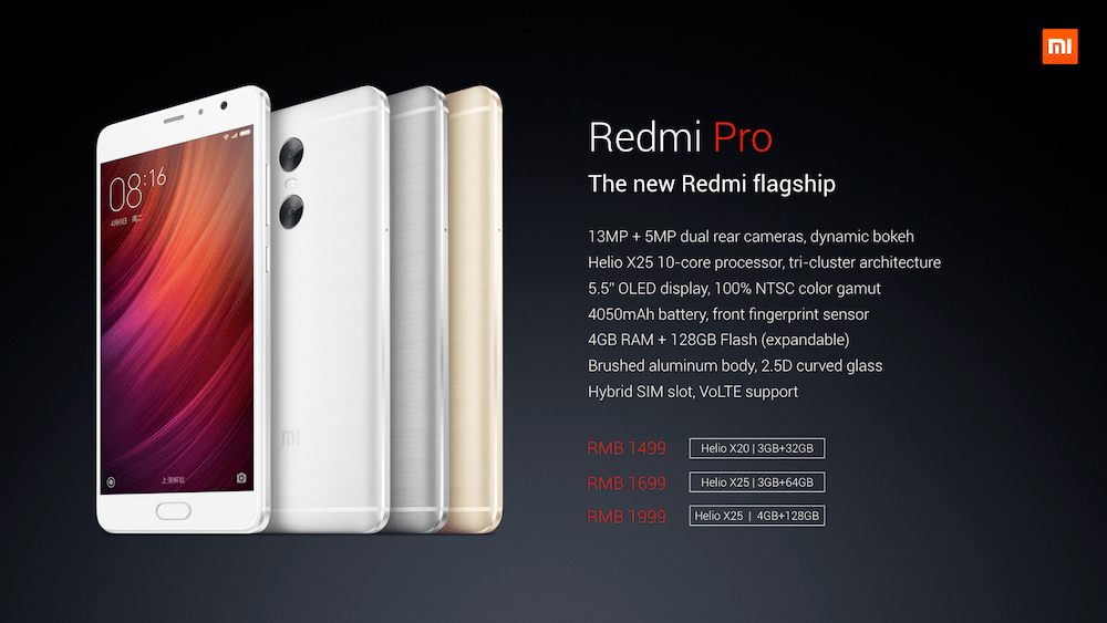 Xiaomi Has Released First Dual Camera Phone Redmi Pro Redmi Pro Release Date In India Price Of Redmi Pro In India - techinfoBiT
