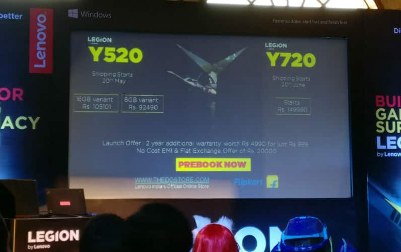 Legion Y520, Y720 Are The Brand New Gaming Laptop By Lenovo India-Price-Release-Date-techinfoBiT