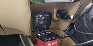 Review Intex Car Inverter DC 200 | Unboxing Intex Car Inverter-techinfoBiT-DC-200-Car-Mobile-Charger