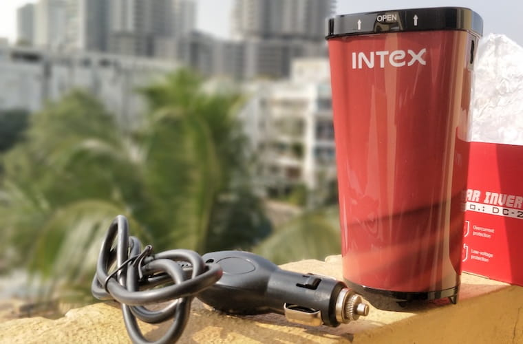 Review Intex Car Inverter DC 200 | Unboxing-Intex Car Inverter-techinfoBiT-DC-200-Car-Mobile-Charger-3