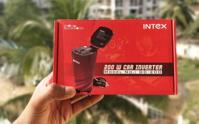 Review Intex Car Inverter DC 200 | Unboxing-Intex Car Inverter-techinfoBiT-DC-200-Car-Mobile-Charger