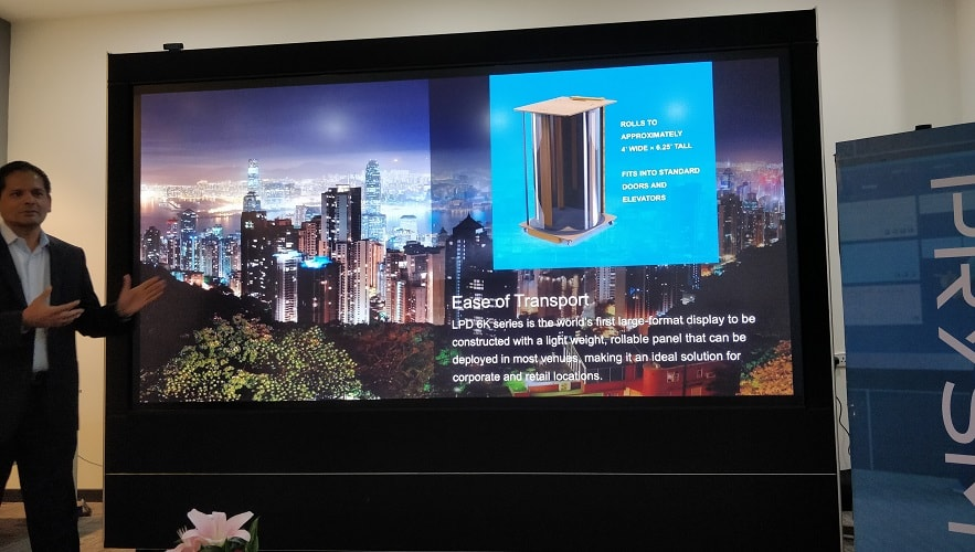 Prysm Has Introduced A Giant LPD 6K Single Panel Display In India-techinfoBiT