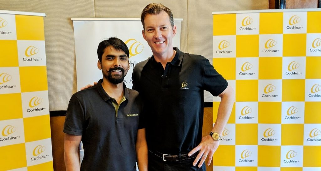 Nucleus 7, Worlds' First SmartPhone Friendly Cochlear Implant Sound Processor - Nishant Kumar With Brett Lee - techinfoBiT