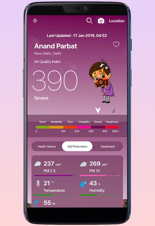 AQI India Launches a Mobile App to Help Users Track Air Pollution Levels-techinfoBiT-Top Tech News-Tech Blog