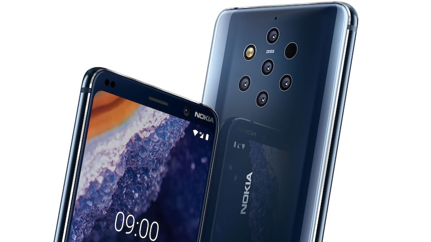 HMD Globals has Officially Unveiled the Nokia 9 with 5 Rear Camera Setup-Best Camera Phone Top Nokia Phone Tech News Blog Bangalore-techinfoBiT-Price and Release Date of Nokia 9-