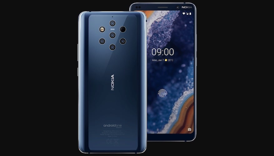 HMD Globals has Officially Unveiled the Nokia 9 with 5 Rear Camera Setup-Best Camera Phone Top Nokia Phone Tech News Blog Bangalore-techinfoBiT-Price and Release Date of Nokia 9